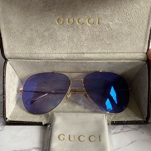 Gucci Aviator Blue Sunglasses
